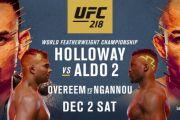 UFC 218. ANÁLISIS Técnico y predicciones
